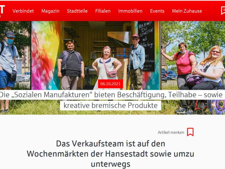 """Die """"Sozialen Manufakturen"""" bieten Beschäftigung, Teilhabe – sowie kreative bremische Produkte"""